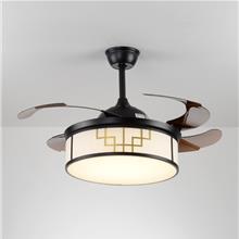中山风扇灯-吊扇灯-餐厅客厅简约电扇灯-家用卧室静音-新中式风扇吊灯