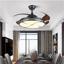 长沙隐形led风扇灯-变频吊扇灯风扇吊灯-简约客厅卧室餐厅吊灯-吸顶吊灯批发