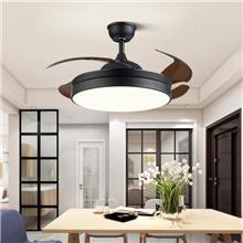 武汉风扇灯餐厅隐形扇现代北欧客厅电扇吊灯卧室变频吊扇灯