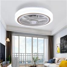 吸顶风扇灯吊扇灯餐厅家用隐形吊灯扇现代简约卧室客厅吸顶灯