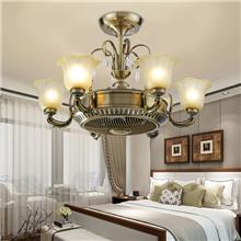 上海led风扇灯-变频吊扇灯风扇吊扇灯-简约客厅卧室餐厅-吸顶吊灯批发