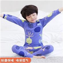 10202317-儿童内衣套装-莱卡棉-秋冬款-初贝禾品牌厂家直供