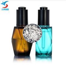 petg塑料粉底液瓶包材 化妆品素颜霜瓶30ml 圆形黑色渐变精华瓶子