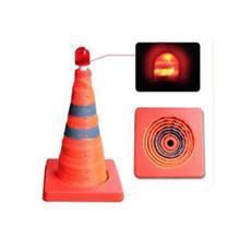 三角架警示牌年年旺LED 伸缩警示路锥NNE02折叠应急路障反光锥