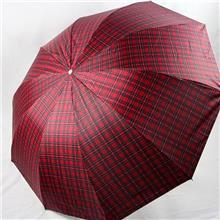 折叠伞直柄大号雨伞直径1.15 米16 股股架兴达三折加固防风晴雨伞