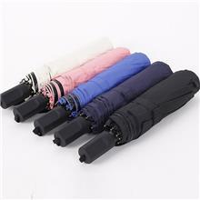手动防风三折晴雨伞橡胶双鱼柄晴雨两用遮阳伞加固小型防晒折叠伞