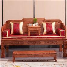 苏木香 红木家具 非洲花梨紫檀沙发 实木沙发组合 中式沙发 冬夏两用小户型客厅古典沙发套装