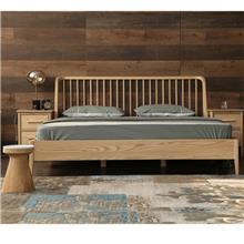 上海实木床品牌 高级实木床 酒店时尚架子床 客栈实木床