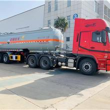 东风危险品半挂车 中国恒天氢氧化钠溶液槽罐车  包上户