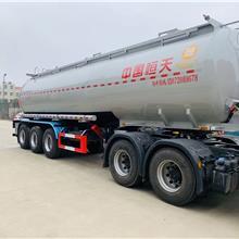 中国恒天氢氧化钠溶液供液车 腐蚀性液体罐式半挂车
