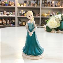 冰雪奇缘爱莎公主摆饰 冰雪奇缘树脂工艺品摆饰 来图定制树脂摆饰 卡通树脂摆件