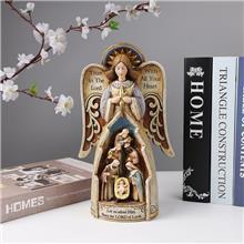 树脂宗教组圣父圣母圣婴 定制 宗教人物雕像摆饰 来样来图定制