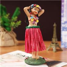 树脂工艺品创意草裙舞女孩公仔家居摆件装饰品旅游纪念品来图定制