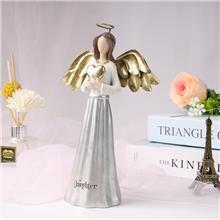 厂家直销跨境创意天使翅膀树脂摆件 天使装饰树脂工艺品摆件 来图来样定制