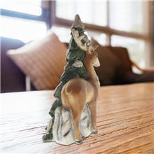 树脂动物定制 圣诞节装饰品 树脂工艺品摆件 桌面仿真梅花驯鹿 定制树脂摆件