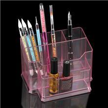 定制美甲工具收纳盒-亚克力透明糖果色笔架-学生文具亚克力笔筒