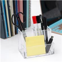 供应亚克力名片盒-办公桌收纳盒-眉笔化妆品收纳盒-亚克力收纳笔筒
