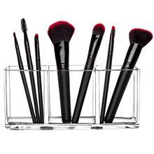 定制透明化妆刷具置物筒-亚克力眉笔梳子整理盒-多格刷筒桌面收纳盒