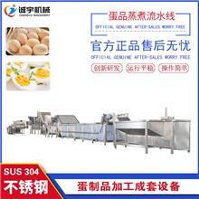 诚宇机械盐焗鸡蛋蒸煮流水线 鹌鹑蛋去皮蒸煮线 蛋制品加工成套设备