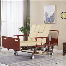木质床头床尾功能床  好用的实用手摇式病床