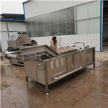 不锈钢果蔬清洗机  果蔬清洗机定制加工 辽宁净菜加工设备气泡清洗机  瑞宝食品机械