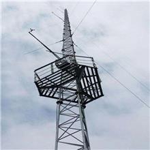 制作防雷监控测风塔 角钢避雷塔 电力站气象站用测风塔