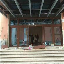 办公室门 店感应电动钢化玻璃门 中西餐店铺银行推拉铝合金玻璃门