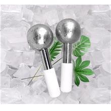 亚马逊不锈钢冰球冰波球韩式能量水晶球冰敷孔按摩面部眼部美容院