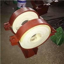 化工热力托架 蒸汽管道管托 绝热滑动支架377蛭石 保温层聚氨酯座