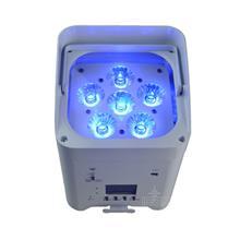 源头厂家 6颗18瓦 红绿蓝白 琥珀+紫光 6合1 高亮度LED室内电池灯