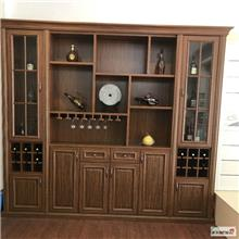 青岛红酒柜 古典中式三门酒柜 红木酒柜储物柜