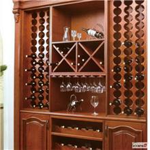 青岛实木整装酒柜供应 订制酒柜