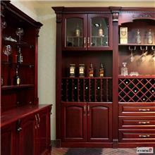 红木酒柜定制厂家 酒柜展示柜 客厅酒柜定制