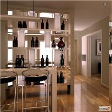 威海恒温酒柜 实木酒柜酒架设计 家用酒格酒柜