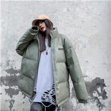 冬季新品青春女装宽松棉服_时尚潮流立领棉服_支持定制