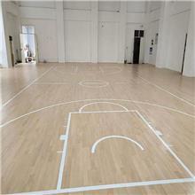 室内篮球木地板 运动木地板 舞台舞蹈室 羽毛球馆 健身房 体育馆地板 施工 实木地板