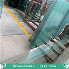 弧形钢化玻璃接大型订单 快速生产发货 合肥隔音中空玻璃 兰迪供应幕墙玻璃