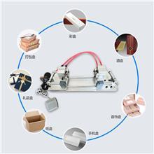 厂家直供礼盒月牙机气动双指甲位扣机纸盒半圆打孔机手指扣机纸板冲孔机
