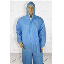 一次性连体防护服 大码隔离衣胶条覆膜 无纺布隔离服现货