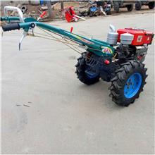 12马力手扶拖拉机 手扶开沟起垄机 手扶车带玉米秸秆粉碎机