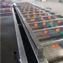 小柿子喷淋气泡果蔬清洗机器  多功能果蔬清洗生产流水线 核桃水果反浪清洗机 迈进机械