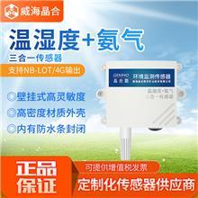 晶合温湿度氨气传感器进口探头NB/4G/GPRS无线远程监测报警器NH3浓度多合一检测仪