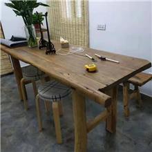 老榆木门板桌 榆木大桌面 榆木吧台 小炕桌
