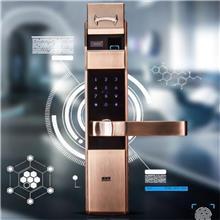 D258德斯保新品指纹锁厂家 家用防盗门智能锁把手指纹识别密码锁电子门锁