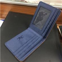 牛仔布拼接钱包HX-21F010 男士零钱包 银行卡包