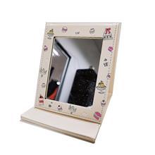 XY折叠镜 镜子折叠 化妆镜 台式 皮革随身镜 学生宿舍女高清便携镜 小号梳妆镜