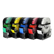 EPSON标签机色带SS12KW国产SC12YW黄底黑字不干胶贴纸9标签带12mm