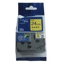 兄弟TZe-641/2411覆膜标签色带 18mm黄底/白底黑字 兄弟标签机色带