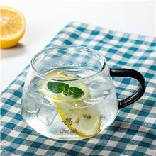 厂家供应 高硼硅杯子 双层玻璃杯 三叶草情侣对杯 质量好