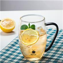 盛福源定制出售 三叶草情侣对杯 磨砂双层杯 玻璃杯 欢迎来电咨询